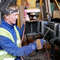 Noel Crowley welding away